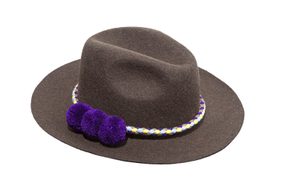 Il Colombiano Hat with pomons