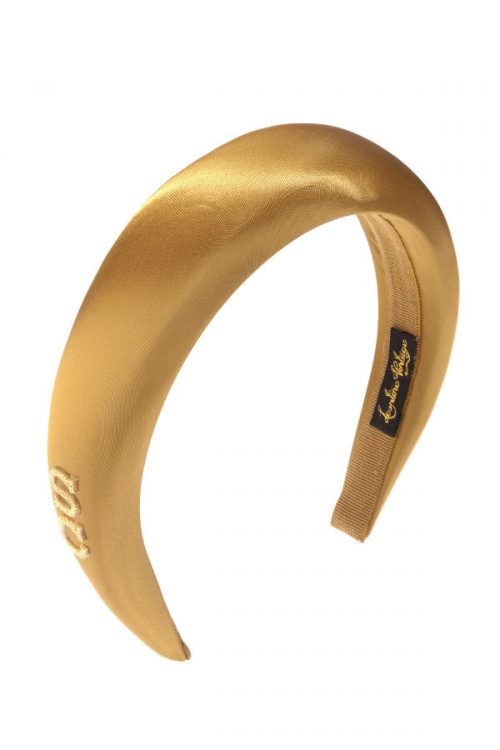 golden satin padded headband