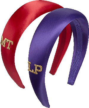 Cerchietti colorati in raso personalizzabili