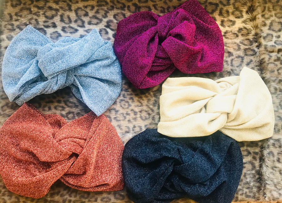 demi turban lurex different colors handmade in italy