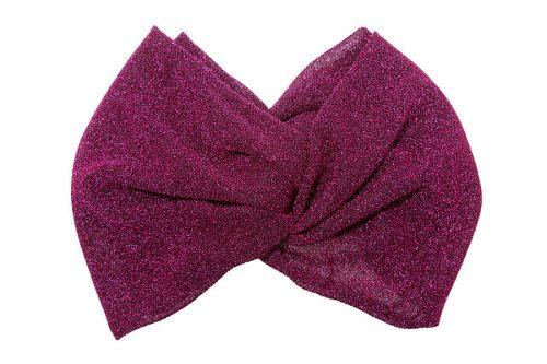 demi turban lurex in colore fucsia