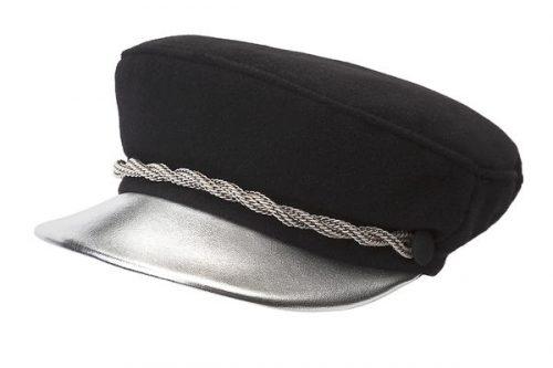 baker boy hat con visiera argento