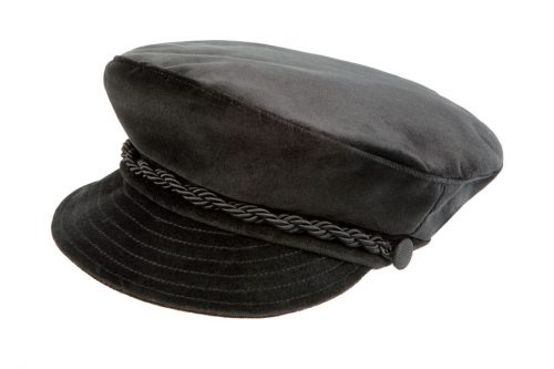 Baker boy hat in velluto nero