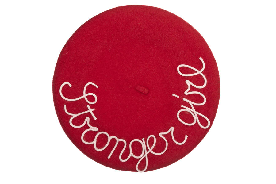 mantrabasco beret stronger girl red
