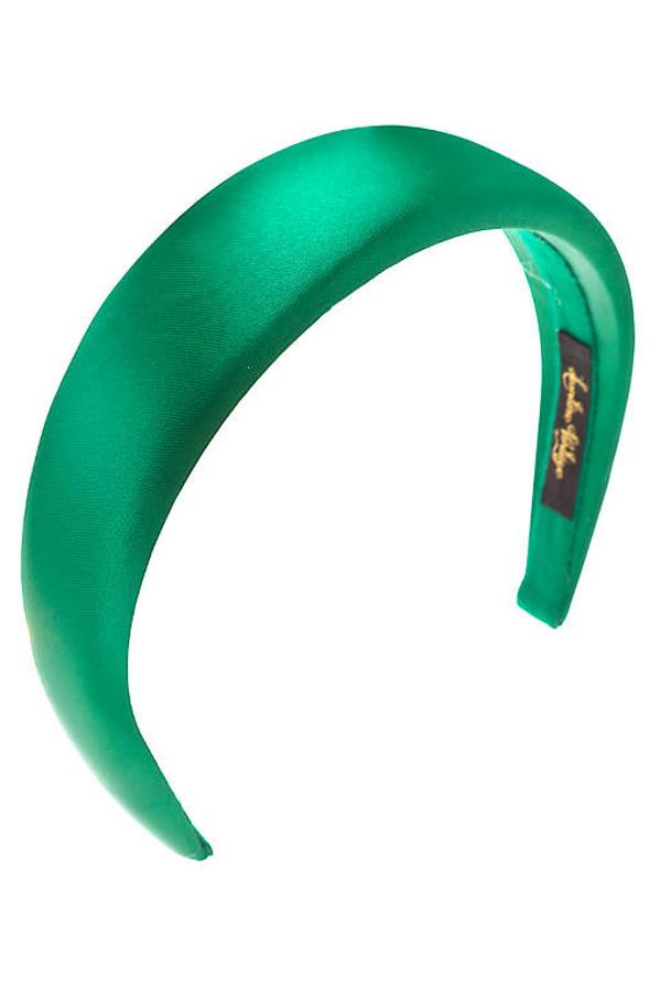 cerchietto raso verde personalizzabile
