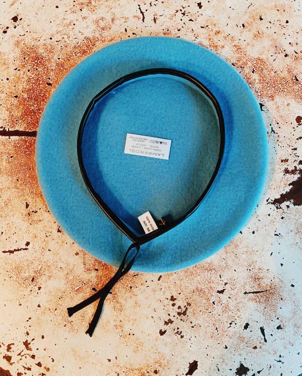 basco lana azzurro