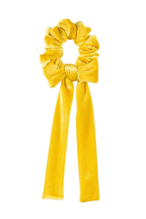 fiocco per capelli velluto giallo sole