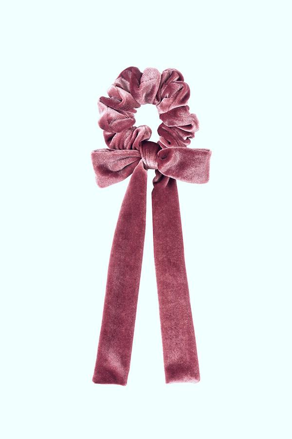 fiocco per capelli velluto rosa