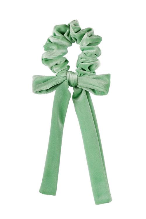 fiocco per capelli velluto verde menta