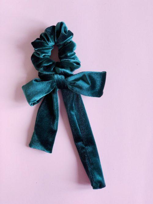 scrunchy velvet green