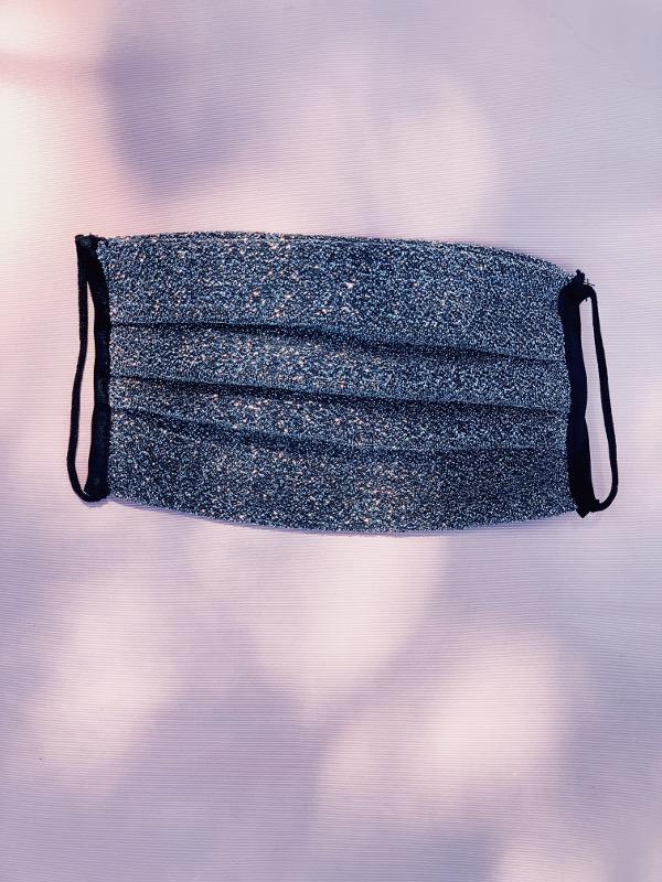 Mascherina in lurex argento - Leontine Vintage
