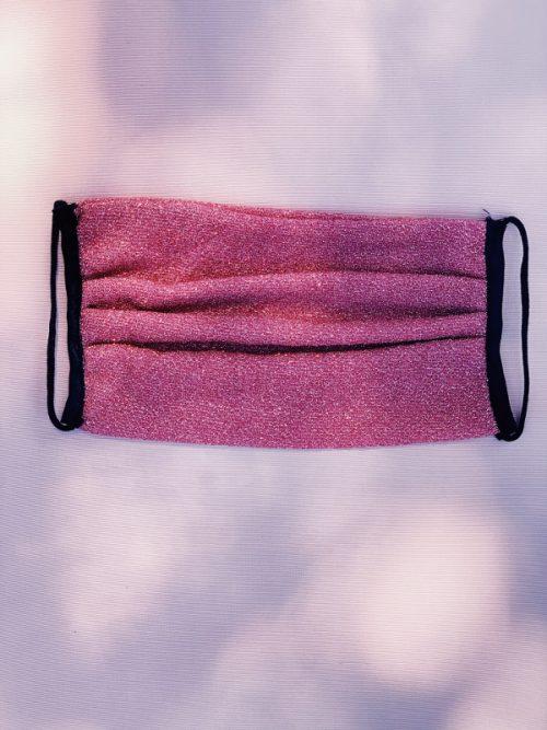 Mascherina in lurex rosa - Leontine Vintage