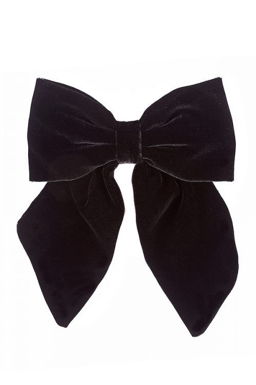 big bow clip in velluto nero