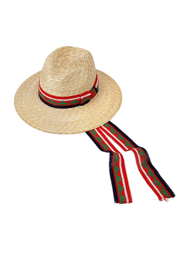 cappello paglia fiorentina con passamaneria
