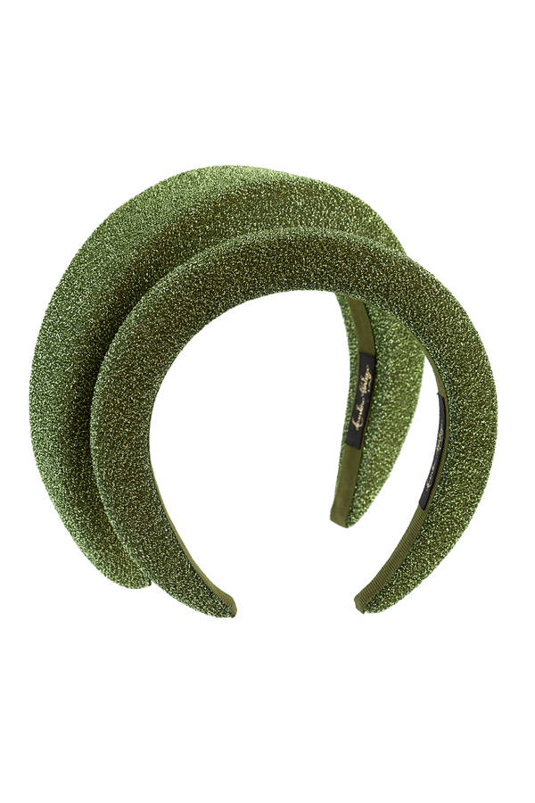 lurex headband green small