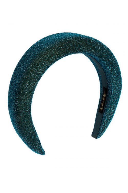 lurex headband turquoise