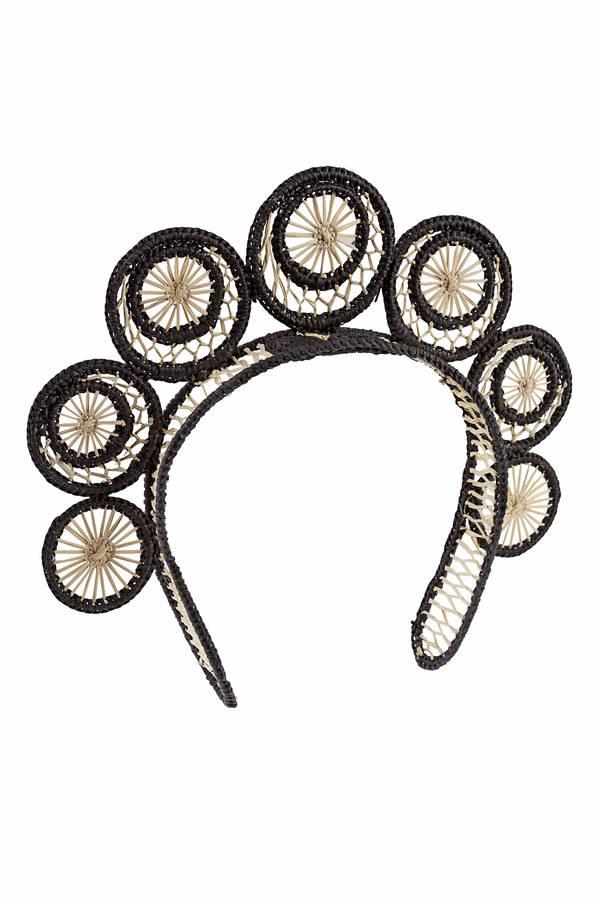 Tiara rays black & white Leontine Vintage