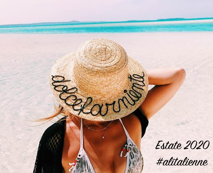 dolcefarniente, cappello in palgia - estate 2020 #alitalienne