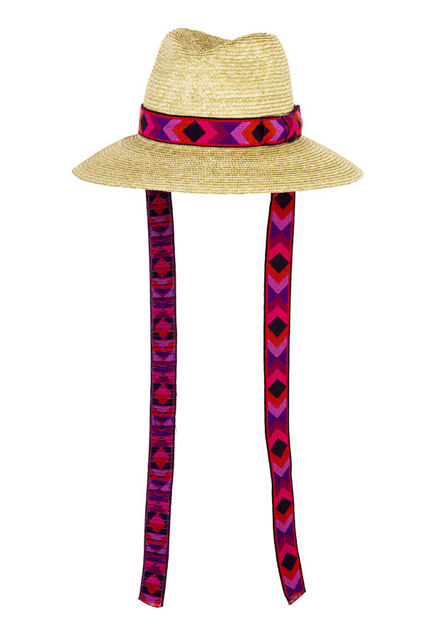 Cruise - Florentine straw hat with vintage, pink trimmings