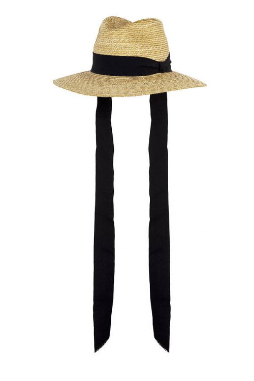 Cruise, florentine straw hat with black grosgrain ribbon