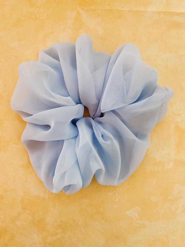 scrunchy oversize azzurro