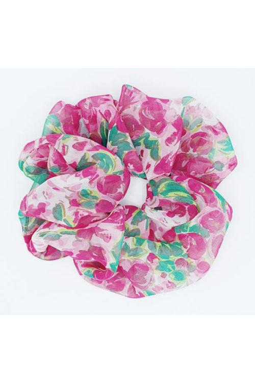 scrunchy oversize floreale