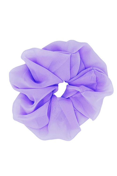 scrunchy oversize organza lilla
