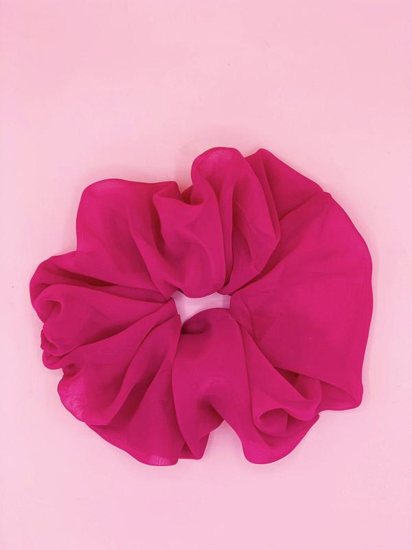 scrunchie oversize fucsia in organza