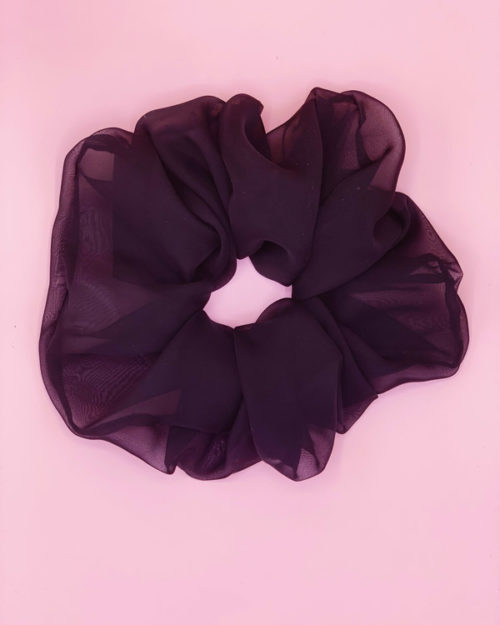 scrunchie oversize nero in organza