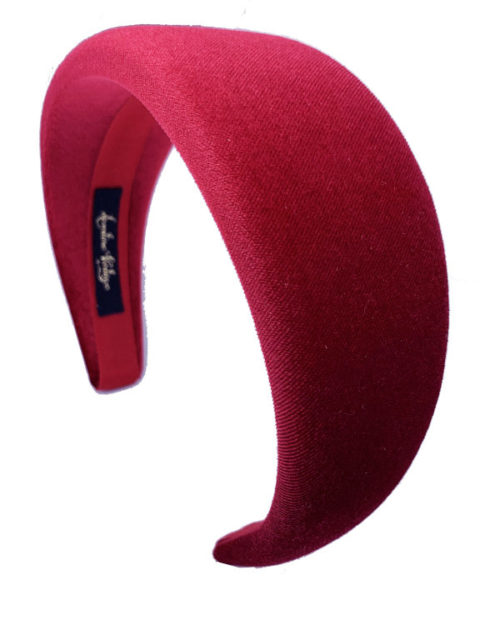 cerchietto piatto velluto rosso - Leontine Vintage