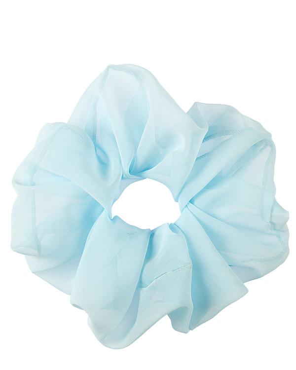 scrunchie oversize azzurro in chiffon