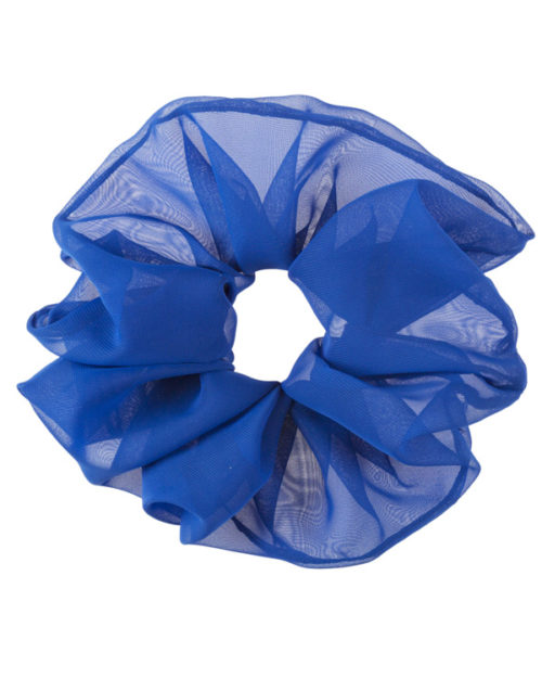 scrunchie oversize colore blu royal in chiffon