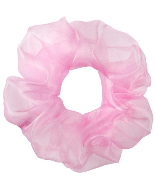 Scunchie oversize bubble pinkin chiffon