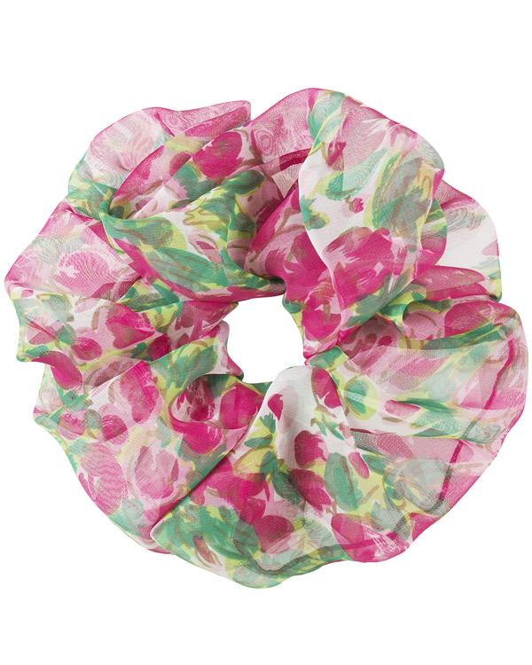 scrunchie oversize floreale in chiffon