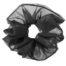 scrunchie oversize nero in chiffon