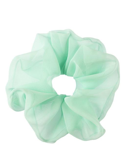 scrunchie oversize verde acqua in chiffon