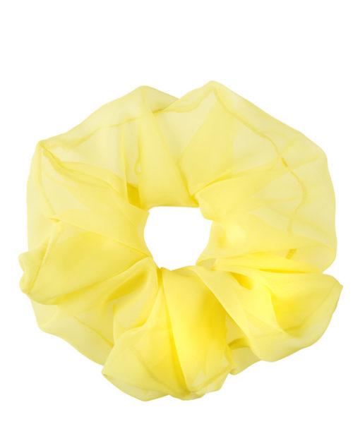 scrunchie oversize giallo in chiffon