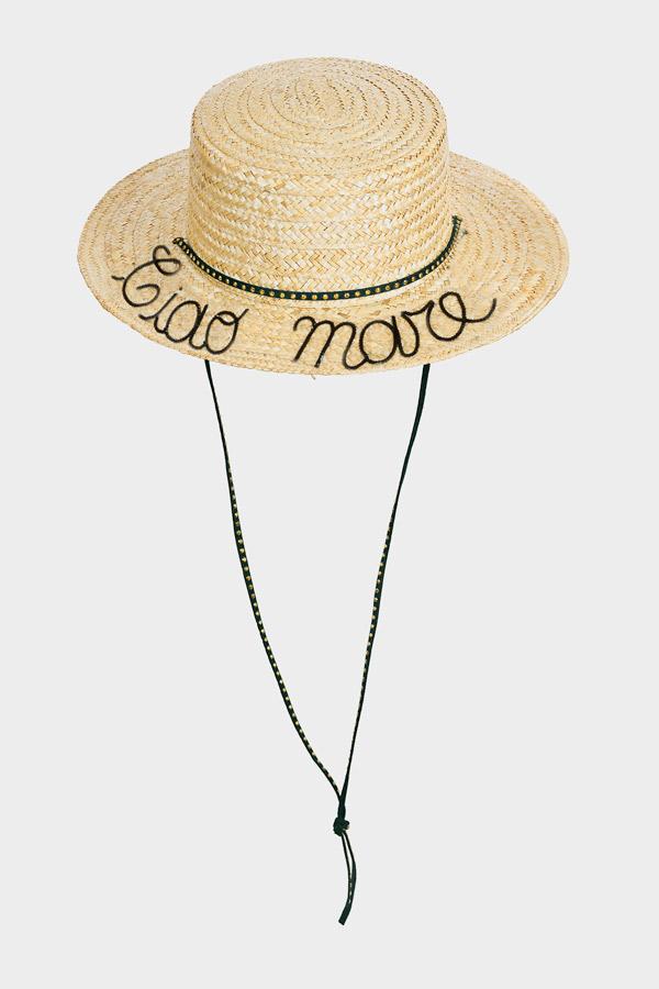 cappello di paglia con scritta ciao mare