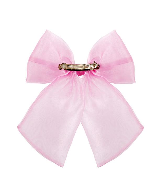 Retro del fiocco in chiffon rosa con clip in metallo