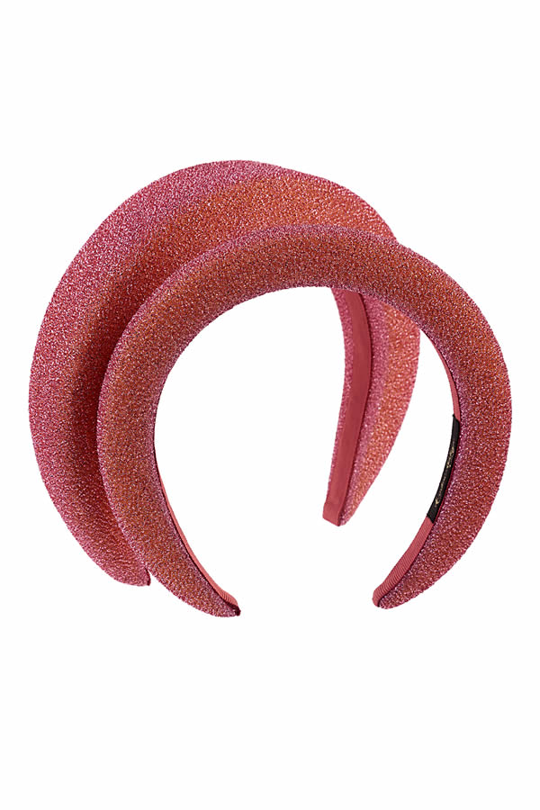 cerchietto bombato rosa lurex petit