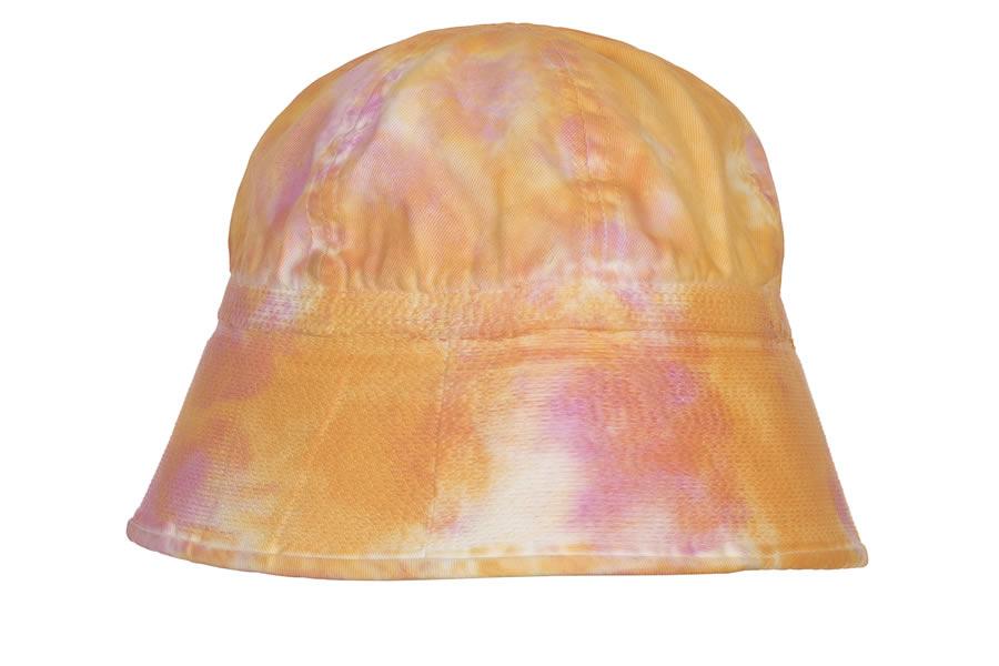 cappello bucket hat con fantasia tiue dye arancio