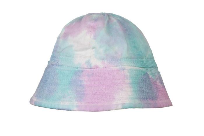 cappello bucket hat azzurro fucsia bianco
