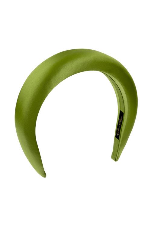 cerchietto bombato raso verde acido
