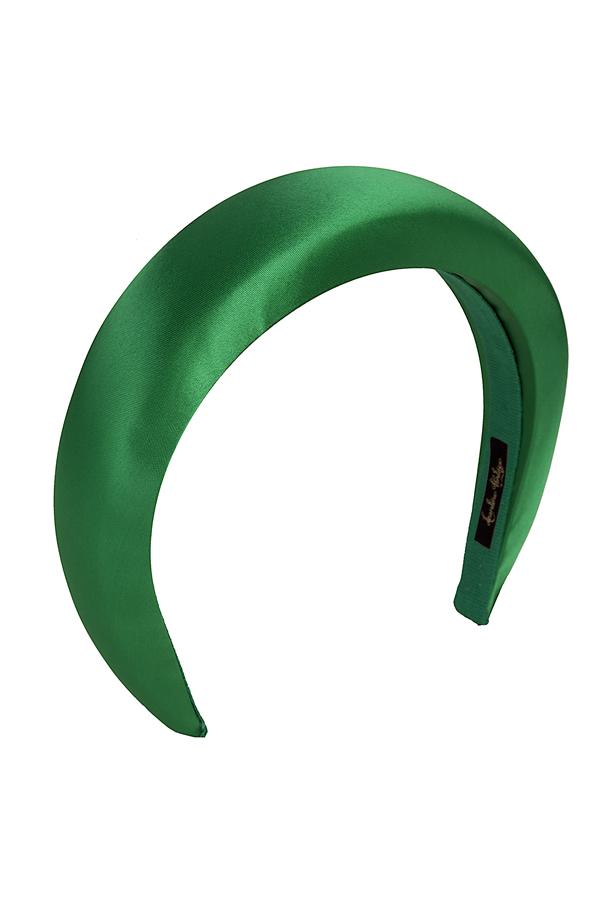 cerchietto bombato raso verde